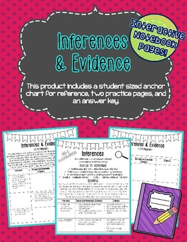 Inference and Evidence Interactive Notebook Page