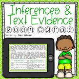 Inference and Text Evidence Boom Cards   Distance Learning