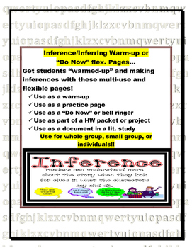 Making Inferences Warm-up or Do Now Pages (log, bell-ringer, or practice pages)