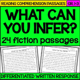 Inference with Reading Passages {read, use evidence + sche