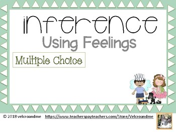 Inference with feelings - 16 multiple choice cards