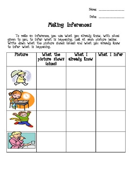Inference worksheet