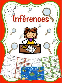 Jeu d'inférences (avec planche) pour 3-5e année - Inference game for grades 3-5