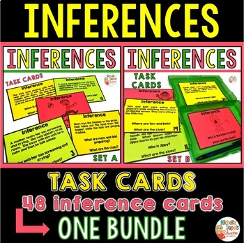 Inferences - 48 task cards