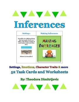 Inferences Bundle (Includes 52 Task Cards)