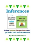 Inferences Bundle - Includes 52 Task Cards - Aligned to RL.5.1 and RI.5.1