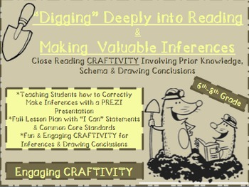 Inferences-{Craftivity}-Digging Deep to Make Valid Inferences