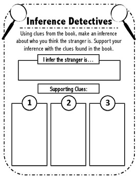 Inferences Detective Worksheet The Stranger By Ms Molly S Shop