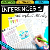 Making Inferences - 6th Grade Reading Comprehension Passages RI.6.1