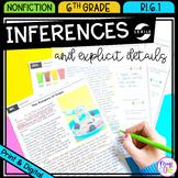 Making Inferences - 6th Grade RI.6.1 - Printable & Digital - RI6.1