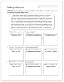 Inferences Graphic Organizer