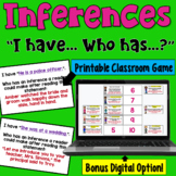 Inferences I Have Who Has: Whole Class Activity game