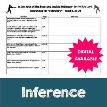 Inferences- In the Year of the Boar and Jackie Robinson by
