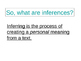 Inferences (Infer) ppt