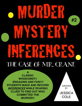 Inferences MURDER MYSTERY!!! The Case of Mr. Crane
