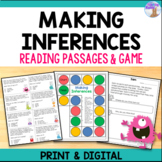 Making Inferences - Reading Passages & Game