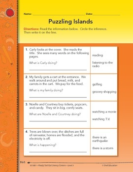 Inferences--Puzzling Islands Literacy Center (eLesson)