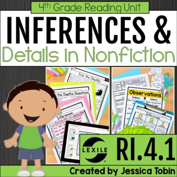 Inferences RI4.1, Making Inferences in Informational Texts
