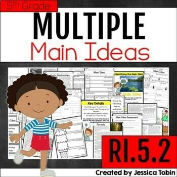 Main Idea RI5.2, Multiple Main Ideas