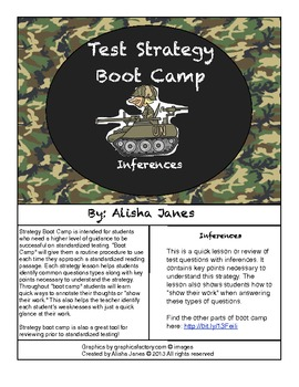 Inferences Strategy Boot Camp