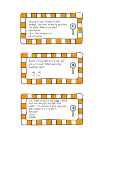 Multiple Choice Inferences Task Cards