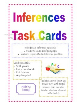 Inferences Task Cards