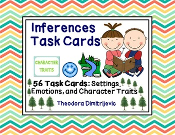 Inferences: 56 Grade 5 Common Core RL.5.1 and RI.5.1 Task Cards