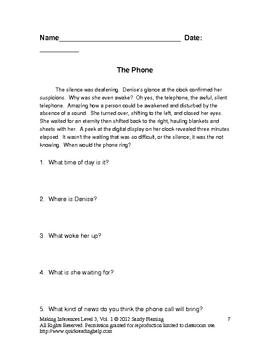 Inferences Worksheets (Level 3, Volume 1)