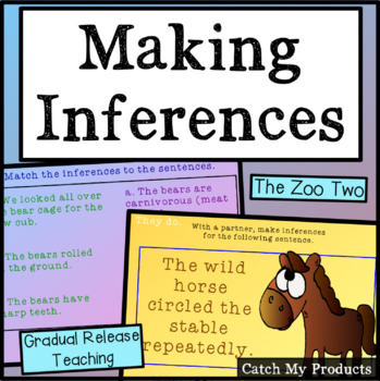 Inferences (Zoo) for Promethean Board Use