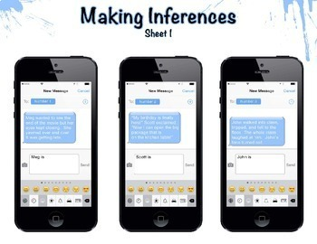 Character Traits Task Cards (inference) on iPhones!