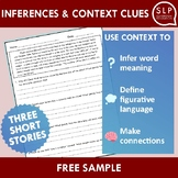 Inferences and Context Clues Short Stories Free Sample for