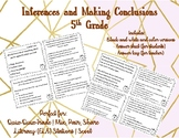 Inferences and Making Conclusions Cards (5th Grade)