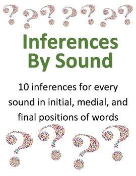 Inferences by sound - speech therapy