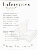 Inferences for Informational Text- Instructional Page