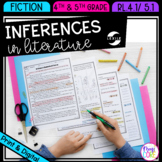 Inferences in Literature 4th Grade RL.4.1 and 5th Grade RL.5.1