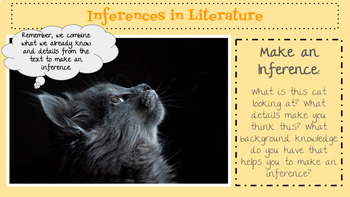 Inferences in Literature Lesson and Activity