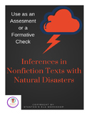 Inferences in Nonfiction Texts with Natural Disasters