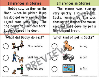 Inferences in Stories with Picture Choices; Reading Comprehension