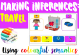 Inferences: TRAVEL -reading, writing, comprehension using
