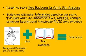 Inferences with Two Bad Ants Smart Board Lesson