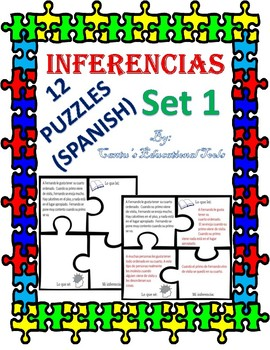 Inferencias - Inferences Task Cards - Spanish