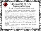 Inferencias con Adivinanzas y Poemas - Taller de poesía - Spanish Inferences 2-5