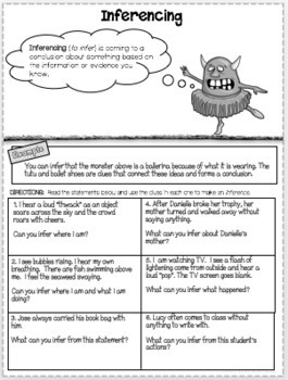 Inferencing Mini Lesson