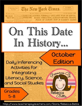 Inferencing Activities & Higher Order Thinking Daily Activities for October