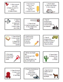 Inferencing Bingo-Common Items