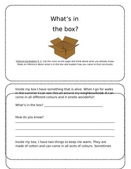 Inferencing Booklet: What's in my box?