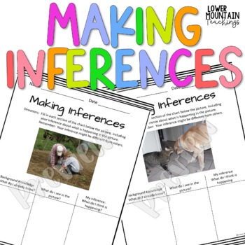 Inferencing Bundle!  Making inferences from Pictures!