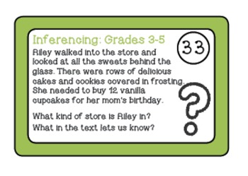 Inferencing Task Cards - 3-5 Grade - {SECOND EDITION} cards 33-64