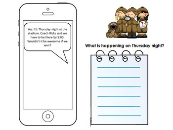 """Inferencing: Check Our """"Text"""" for Clues"""