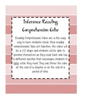 Inference Cube - Reading Comprehension Activity